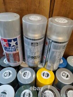 Giant Tamiya Model Spray Paint Lot 97 New Cans Military Sea & Air