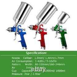 Goplus 3 HVLP Air Spray Gun Kit Auto Paint Car Primer Detail Basecoat Clearcoat