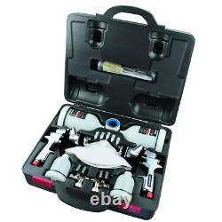 HVLP and Standard Gravity Feed Spray Gun Kit Car Auto Wall Air Paint Sprayer