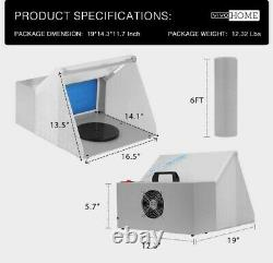 Hobby Airbrush Paint Spray Booth Kit withExhaust & Air Compressor, hose, gun etc
