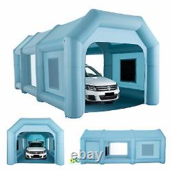 Inflatable Paint Booth Portable Spray Paint Car Tent with Air Pumps 26×13×11 ft