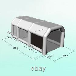 Inflatable Paint Spray Booth Painting Tent with Air Filter System & Floor Mat