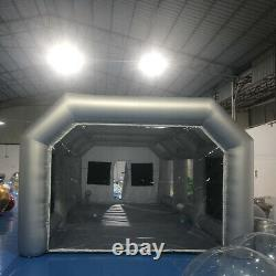 Inflatable Spray Booth Paint Tent Portable Car Workstation + Air Filter System