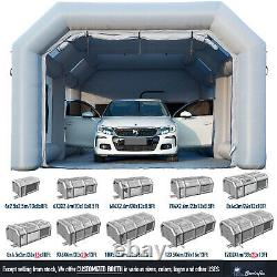 Inflatable Spray Paint Booth Paint Tent Mobile Portable Car Workstation 12 Size