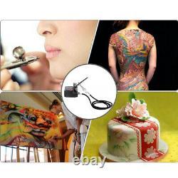 KKMOON Airbrush Compressor Air Brush Kit 0.3mm 7cc Spray Nail Art Paint