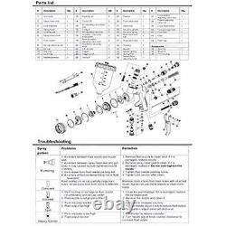 Master Pro 44 Series High Performance HVLP Spray 1.3mm Tip Air Pressure Gauge