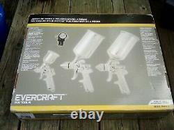 New Professional 4pc HVLP Air Spray Paint Gun Set Gravity Car Auto Painting Kit