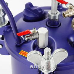 New10L 2.5 Gallon Pressure Paint Pot Tank Spray Gun Sprayer Reg Air Mix Agitator