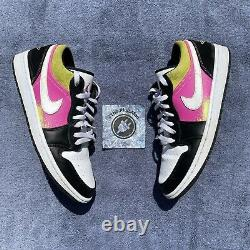 Nike Air Jordan 1 Low SE Fuchsia Cyber Spray Paint CW5564-001 Mens Size 11