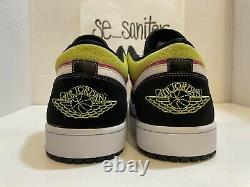 Nike Air Jordan 1 Low SE Spray Paint Fuchsia, White, Black CW5564 001 Size 17