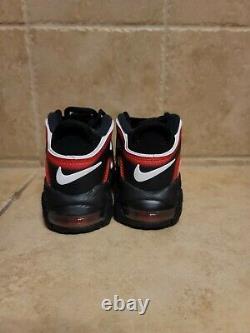 Nike Air More Uptempo PS Laser Crimson Spray Paint Shoes AA1554-010 SZ 11c