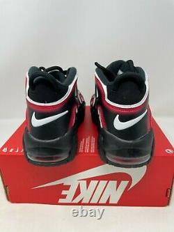 Nike Air More Uptempo PS Laser Crimson Spray Paint Shoes AA1554-010 Size 3Y