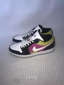 Nike air jordan 1 low SE spray paint fuchisa white, Black CW556-001 size 12