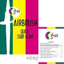 OPHIR 2PCS Airbrush Kit with Pro Air Compressor Air Brush Spray Paint Gun Hobby