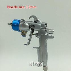 Paint Spray Air Gun SAT1189 Hvlp Feed Gravity Kit 2 Sprayer Pressure Gauge Blue