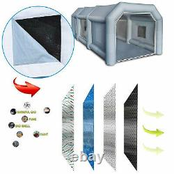 Portable Inflatable Spray Paint Booth Tent Mobile For Car 2Air Filter 28x15x10FT