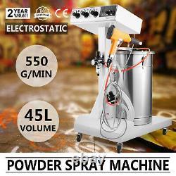Powder Coating System Machine With Tank Spray Gun Paint System 550g/Min WX-101 DIY