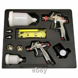SPRAYIT SP-33500K LVLP Gravity Feed Paint Spray Gun Kit with 2 Spray Guns & Reg