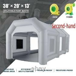 Secondhand Blow Up Paint Booth Portable Spray Paint Car Tent with Air Filters