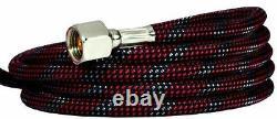 Siphon-Fed 0.9mm Airbrush Kit Paint Detail Fan Spray Tip Air Hose Case Glass Jar