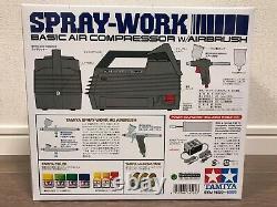 TAMIYA Air Brush System No. 20 Spray Work Basic Compressor Set With Air Brush