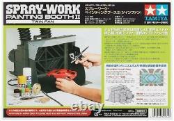 Tamiya Japan-Air Brush System No. 34 Spray Work Painting Booth II Twin Fan