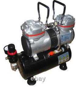 Twin Piston Air Compressor With Tank Air Spraying By Rdg Tools