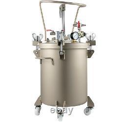 VEVOR 5.3 Gal Spray Paint Pressure Pot Tank Manual Air Paint Pressure Pot