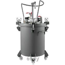 VEVOR 8Gal Spray Paint Pressure Pot Tank Manual Air Paint Pressure Pot Silver