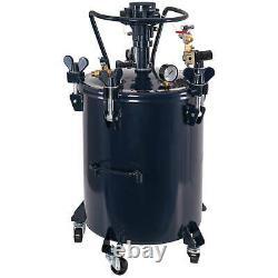 10 Gallon Pression Fourniture Paint Pot Tank Spray Pulvérisateur Régulateur Agitateur D'air