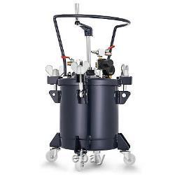 10 Litres Vaporisateur De Peinture Réservoir De Pression 3/8 Sortie Fluide Automobile 4 Pinces