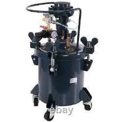 2-1/2 Gallon Pression Fourniture Paint Pot Tank Spray Sprayer Reg Air MIX Agitator