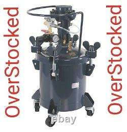 2-1/2 Gallon Pressure Feed Paint Pot Spray Gun Sprayer Reg Air MIX Agitator