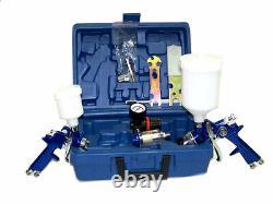 2 Hvlp Air Spray Paint Gun 1.4mm Air Touch Up Gun 1.0mm Kit D'outils De Peinture