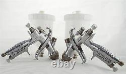 2 X Devilbiss Flg-5 Gravity Spray Paint Guns 1 X 1.4mm & 1 X 1.8mm Conseils