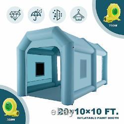 20x10x10ft Blow Up Paint Booth Airbrush Paint Tent W Pompes À Air Et Filtres