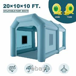 20x10x10ft Inflatable Paint Booth Portable Spray Paint Car Tent With Air Blowers 20x10x10ft Inflatable Paint Booth Portable Spray Paint Car Tent With Air Blowers 20x10ft Inflatable Paint Booth Portable Spray Paint Car Tent With Air Blowers 20x1