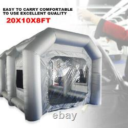 20x10x8ft Gonflable Spray Paint Tente Mobile Car Paint +air Filter System