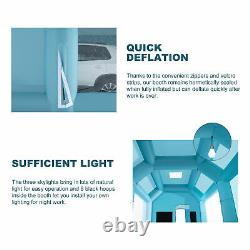 23x13x11ft. Inflatable Paint Booth Portable Spray Paint Car Tent W Souffleurs D'air