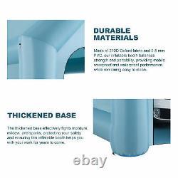 26×13×11 Pieds Cabine De Peinture Gonflable Portatif Spray Paint Car Tent With Air Pumps