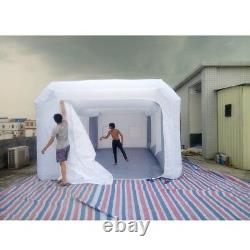 26x13x10ft Inflatable Spray Mobile Custom Tent For Car Paint Booth Kit+air Fan