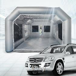 26x15x10ft Mobile Spray Booth Inflatable Paint Car Booth Tente Deux Filtres À Air