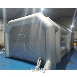 26x15x10ft Robinet De Pulvérisation Mobile Robinet Gonflable De Voiture De Peinture Tente Deux Filtre À Air