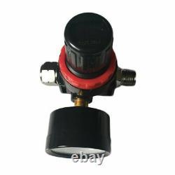 3 Hvlp Air Spray Gun Kit Auto Paint Car Primer Detail Basecoat Clearcoat Avec Boîtier