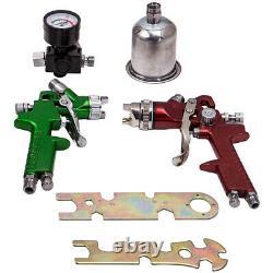 3 Hvlp En Aluminium Air Spray Gun Kit Auto Paint Car Primer Detail Basecoat