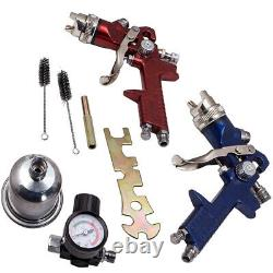 3 Hvlp En Aluminium Air Spray Gun Kit Auto Paint Car Primer Detail Clearcoat Withcase
