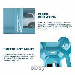 33 X16x13ft. Poitrine De Peinture Gonflable Portable Spray Paint Car Tente W Filtres À Air