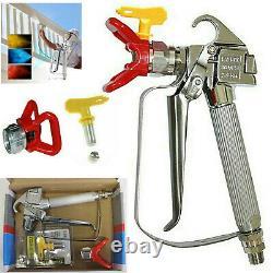 3600psi Airless Paint Spray Gun With Tip&tip Guard Sprayers Us Livraison Rapide