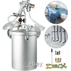 4 Gallons 4.0mm Buse Haute Pression Pot Réservoir Air Paint Spray Gun Painting 2 Tuyau