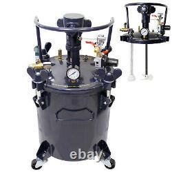 5 Gallons Pression Feed Paint Pot Réservoir Spray Gun Sprayer Régulateur Air Agitateur